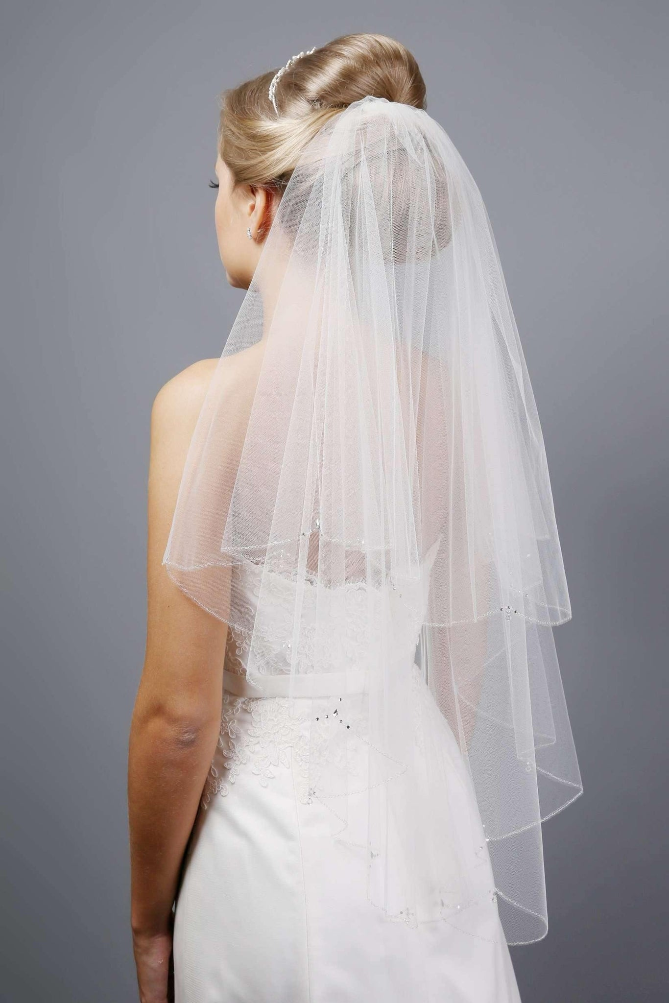 "ROISIN - EMBROIDERED EDGE VEIL - 72"" - Adore Bridal and Occasion Wear"