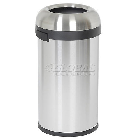 simplehuman® Bullet Open Top Can - 16 Gallon Brushed SS