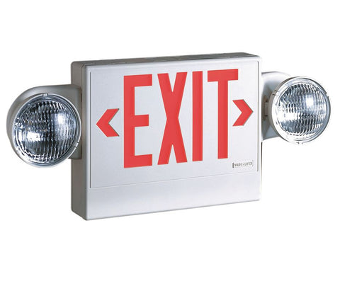 Exit Sign w/Emergency Lights, 5.4W, Red