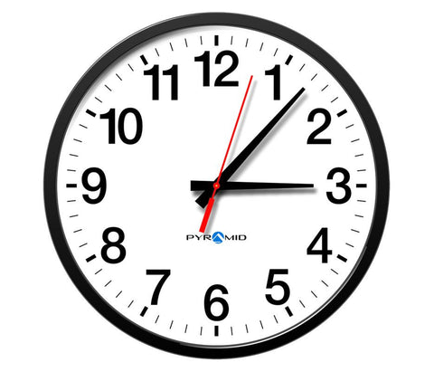Analog Clock, Wired, 12 Hour, 13 In