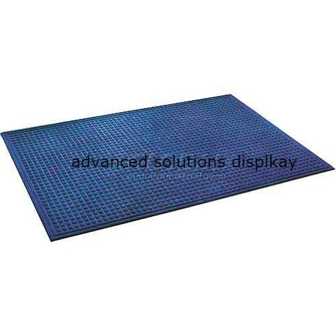 "Heavyweight Indoor Entrance Mat 3/8"" Thick 72""W Cut Length Up To 60 Ft Blue"