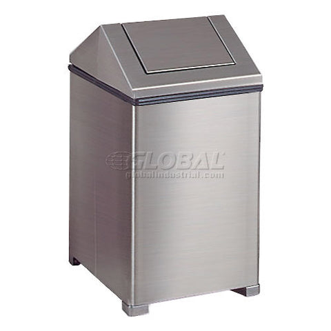 Rubbermaid® 14 Gallon Square Stainless Steel Waste Receptacle