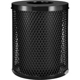 Global™ Thermoplastic Coated 32 Gallon Mesh Receptacle w/Flat Lid - Black - blue -green