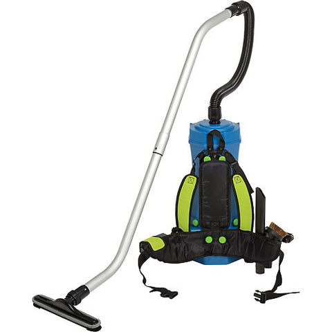 6 Quart HEPA Backpack Vacuum w/8-Piece Tool Kit