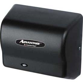 American Dryer Advantage Series Hand Dryer W/ Universal Voltage 100-240V -Steel Blk Graphite AD90-BG