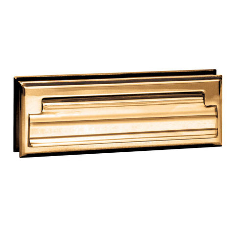 Salsbury Door Letter Drop Mail Slot 4035B - Letter Size, Solid Brass, Brass Finish