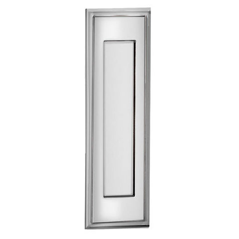 Salsbury Vertical Door Letter Drop Mail Slot 4085C - Letter Size, Solid Brass, Chrome Finish