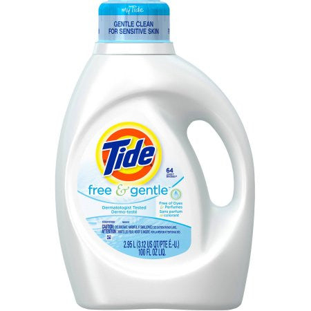 Tide Free and Gentle Liquid Laundry Detergent,