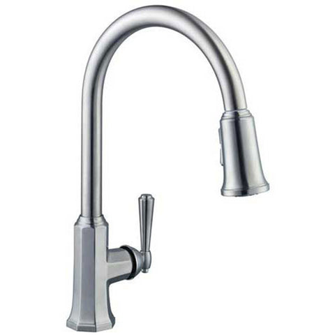 Pegasus 67070-4004 Sentio Single-Handle Pull-Down Sprayer Kitchen Faucet, Brushed Nickel