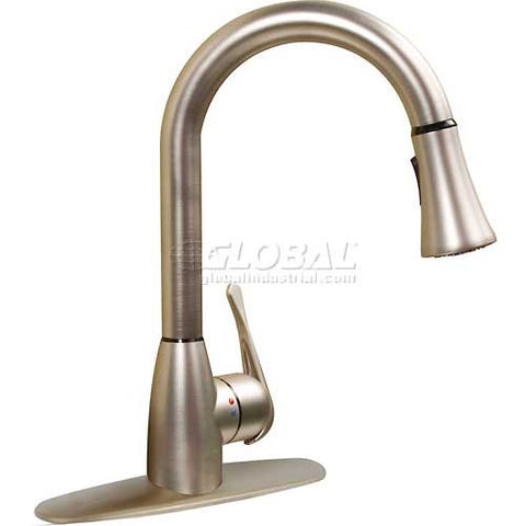 cleanFLO By Madgal 8184 Pull Down Kitchen Faucet, Brushed Nickel Finish
