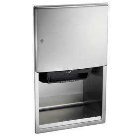 ASI® Roval™ Semi-Recessed Automatic Roll Paper Towel Dispenser - Hard Wired - 204523AC-6