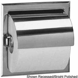 Bobrick® 600 Series Surface Mounted Single Tissue Dispenser w/ Hood - Satin - B66997