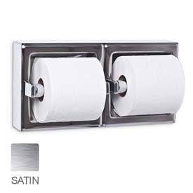 Toilet Tissue Dispenser UX75-SF-SM, Dual, Satin, Surface Mounted
