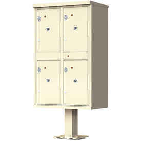 Valiant Outdoor Parcel Locker, 4 Lockers, Sandstone