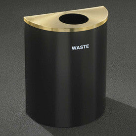 Glaro Recyclepro Half Round Midnight Blue/Satin Brass, 29 Gallon Waste - W2499BL-BE-W