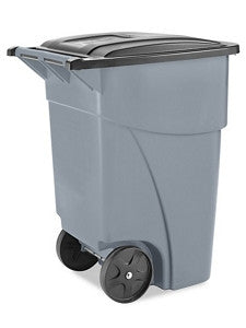 Rubbermaid® Trash Can with Wheels - 50 Gallon, Gray