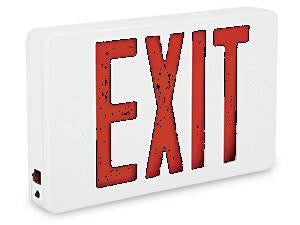Exit Sign - Steel with Red Letters