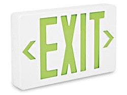 Exit Sign - Plastic with -----Green Letters----Red Letters