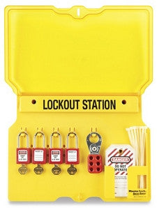 Lockout/Tagout Wall Mount Station - 4-Lock