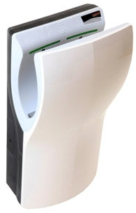Saniflow M14A-UL DualFlow Plus Hand Dryer, High Speed, Automatic, High Impact ABS UL 94V0 Cover, White, 110-120V