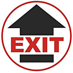 "Anti-Slip Floor Sign - ""Exit"""