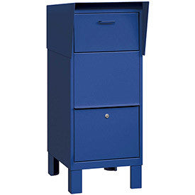 Salsbury Courier And Collection Box 4975BLU - Blue, Private Access