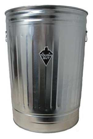 31 gal. Round Silver Trash Can