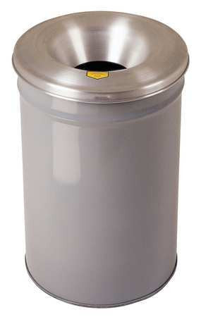 30 gal. Round Gray Trash Can