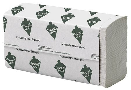 White Paper Towels Multifold, 16 Pack, 250 Sheets/ Pack