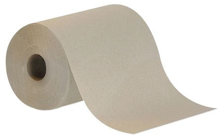 "Brown Paper Towels Roll 7-7/8""W x 350'L, 12 Rolls"