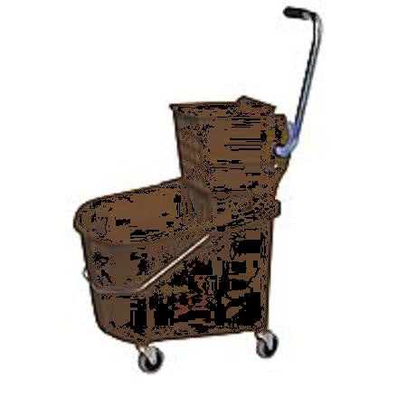Mop Bucket and Wringer, 8-3/4 gal., Brown