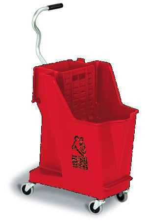 Mop Bucket and Wringer, 8-3/4 gal., Red