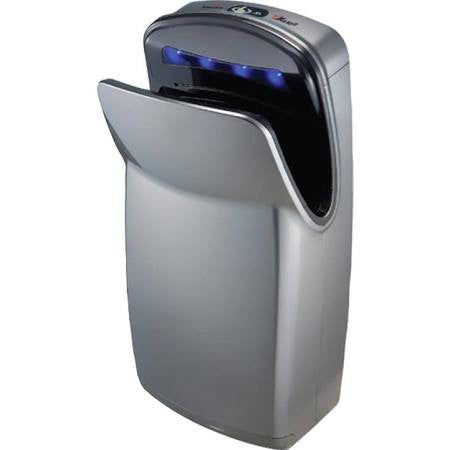 World Dryer VMax, 110-120V, High Impact ABS, Silver, Hi-speed Vertical Hand Dryer V-629A