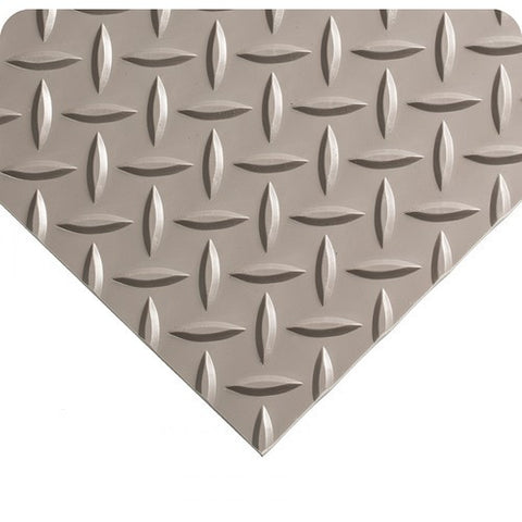 "Switchboard Matting- Type III - Military Diamond Plate - 3/16"" GREY  3'"