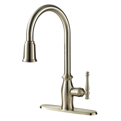 "Ultra Faucets 1 Handle Kitchen Faucet W/Pull-Down Spray, SS, 16-13/16""H UF13403 SS, 16-13/16""H"