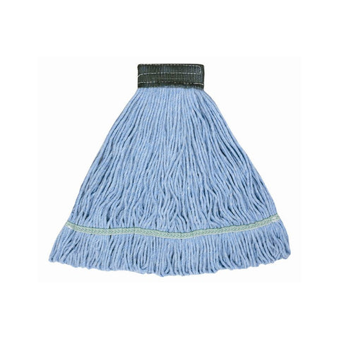 "Continental A02602 J.W. Atomic Loop™ 24 oz. Blue Blend Loop End Mop Head with 5"" Band"