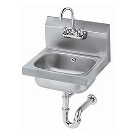 "Krowne HS-4 - 16"" Wide Hand Sink with P-Trap with Overflow"