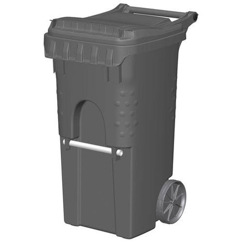 Otto Mobile 2 Wheeled Trash Container, 35 Gallon Gray - 3955050F-BS8