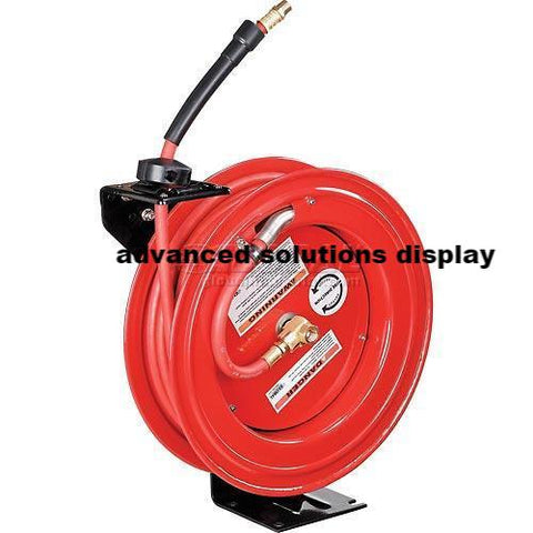 "Global™ 3/8""x 50' Hose Reel Retractable Steel Construction Industrial Grade w/ 50' Hose 300 PSI"