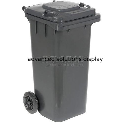 Vestil Mobile Trash Can - 32 Gallon Gray