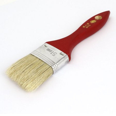 "2"" Wide Wooden Grip Bristle Painting Drawing Oil Paint Brush Pen"