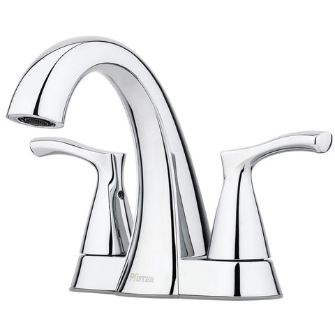 Pfister Masey Polished Chrome 2-Handle 4-in Centerset WaterSense Bathroom Faucet