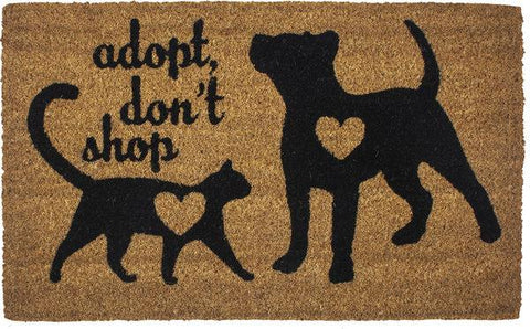 Adopt, Don't Shop Slip Resistant Coir Door Mats