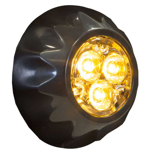"Buyers 1"" Amber Round Surface/Recess Mount Strobe Lights With 3 LED - 8892400"