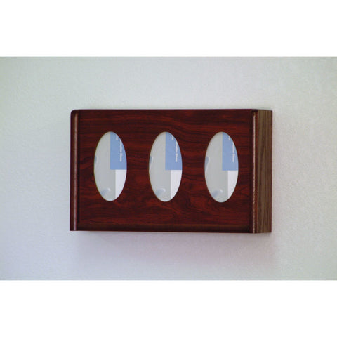 3 Pocket Glove/Tissue Box Holder - Mahogany