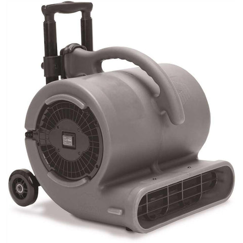 B-Air 1/2 HP Air Mover for Janitorial Water Damage Restoration Stackable Carpet Dryer Floor Blower Fan with Handle Grey