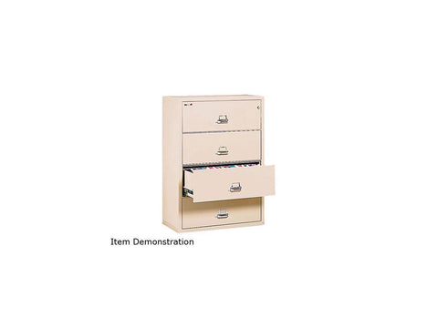 "FireKing 4-Drawer Lateral Insulated File 37-27/64""W Parchment"