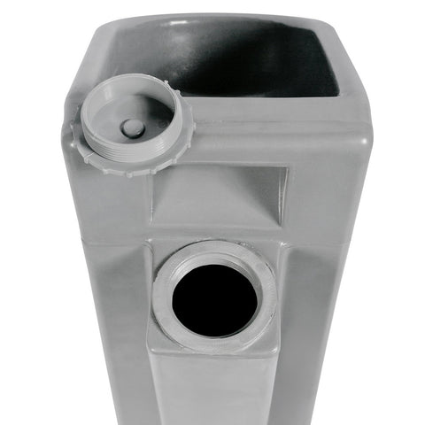 PolyJohn PK01-1000 PolyCan Grey 11 Gallon Portable Urinal with Wheels - Assembled