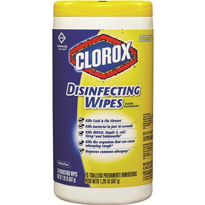 Clorox 75-Count Lemon Fresh Scented Bleach Free Clorox Disinfecting Wipes