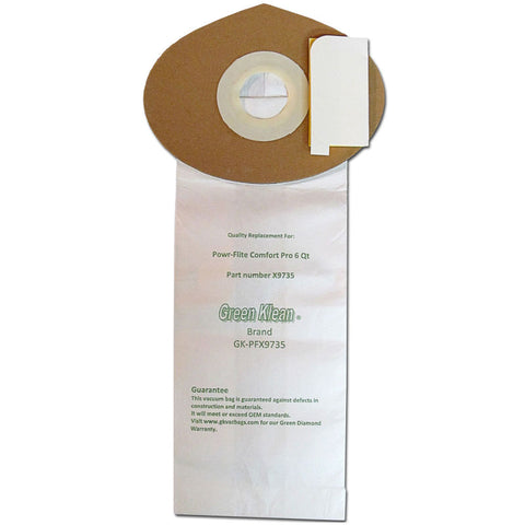 Green Klean Replacement Vacuum Cleaner Bags for Powr-Flite® BP6S